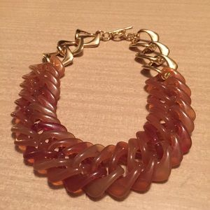 Jewelry - Chunky Butterscotch Acrylic Link Necklace
